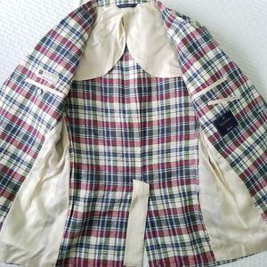 Brooks Brothers Suits & Blazers - Brooks Brothers Madras Linen Jacket Baird …